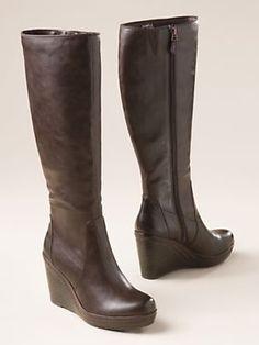 Women's Dr. Scholl's Classic Calf Wedge Boots | Sahalie