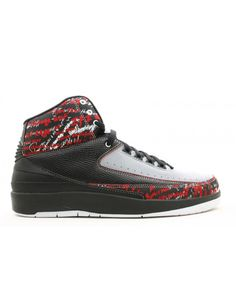 low cost cac36 f6c18 Air Jordan 2 Retro Eminem Black Stealth Varsity Red 308308 002