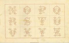 French Horn Christmas Monogram Sajou No 486