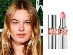 """【セレブの自腹買いコスメ】カミーユ・ロウ = 『イヴ・サンローラン』のリップ。お気に入りのリップは""""ヴォリュプテ・ティントインバーム"""" http://www.elle.co.jp/beauty/pick/celebrity-makeup-product_18_0118/2 @ellejapanさんから"""