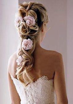 Sooo pretty! The perfect wedding hair. Pretty Hairstyles, Hairdos, Hair, Cute Hairstyles