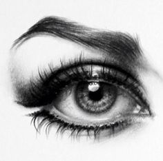 Eye drawing realistic