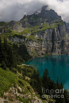 Oeschinensee - Swiss Alps - Switzerland by Gary Whitton
