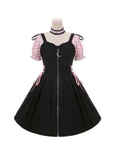 Pastel Goth Outfits, Edgy Outfits, Teen Fashion Outfits, Retro Outfits, Girl Outfits, Cute Outfits, Amazing Outfits, Kawaii Fashion, Lolita Fashion