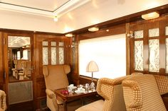 Pullman Orient Express - Fleche d'Or, interior by Train Chartering & Private Rail Cars, via Flickr