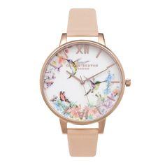 Nice Olivia Burton Painterly Prints Hummingbird Rose Gold Watch | OB15PP12 just added...