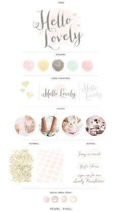Custom Logo and Branding Design by PearlAndPixel on Etsy