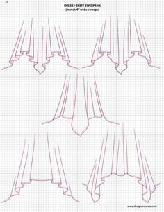 fashion drawing, this helps when your designing yourself or need a ref to what style types there are. Many info charts on every article of patterns, hoods, sleeves, collars, skirts, pleats, pockets...it's all here