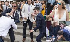 Racegoers at Melbourne Cup's Stakes Day grow violent #DailyMail