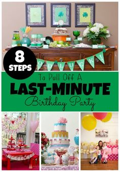 Double the Fun Parties 8 Steps to Pull Off a Last-Minute Birthday Party