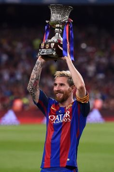 FC Barcelona v Sevilla: Super Cup, Second Leg Good Soccer Players, Football Players, Fc Barcelona, Messi 2017, Football Pictures, Camp Nou, Football Match, European Football, Lionel Messi