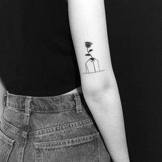 Yi Stropky'den 30+ Siyah Beyaz Dövme Modeli ile Minimal Örnekler Sanatlı Bi Blog 21