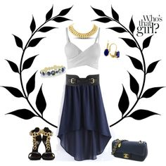 """SuperJeweler Navy & Gold"" by bbartell927 on Polyvore"