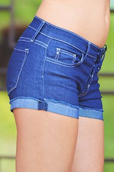 Girls Run The World Denim Shorts from Closet Candy Boutique