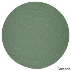 Rhody Rug Venice Indoor / Outdoor Braided Rug (10' Round) (Celadon), Green, Size 10' x 10' (Plastic, Solid)