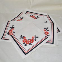 Red Poppy Cloth Napkins