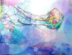Ultraviolet Jellyfish - shealeigh.etsy.com