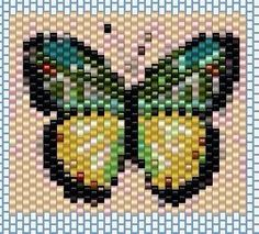 VK is the largest European social network with more than 100 million active users. Beaded Brooch, Beaded Earrings, Peyote Stitch Patterns, Peyote Beading, Brick Stitch, Cross Stitch Designs, Butterfly, Beads, Art