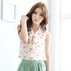Buy 'Tokyo Fashion – Tie-Neck Floral Blouse' at YesStyle.com plus more Taiwan items and get Free International Shipping on qualifying orders.