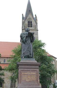 """""""Martin Luther statue """" by TravelPod blogger ontheroadwgps from the entry """"Erfurt"""" on Saturday, September 13, 2014 in Erfurt, Germany"""