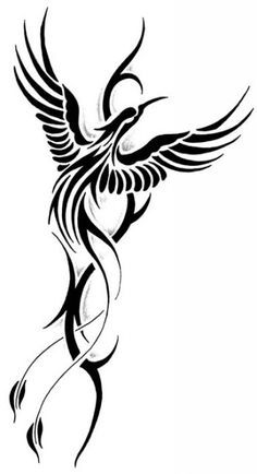 http://tattoomagz.com/tribal-phoenix-tattoo-meaning/tattoo-flash-the-phoenix/