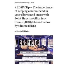 """""""#EDSFitTip - The importance of keeping a micro-bend in your elbows and knees with Joint Hypermobility Syndrome (#JHS)/Ehlers-Danlos Syndrome (EDS)."""" - http://ift.tt/20P4YOx #EhlersDanlosSyndrome #Chronicpain #invisibleillness #Spoonie #ChronicIlness #ChronicFatigue #chroniclife #InvisibleStrength #Stronger2gether #OurStoriesOfStrength #CFS #autonomicdysfunction #AutoImmune #Dysautonomia #POTS #Fibromyalgia #MCAS #LiveEDSStrong #EDSStrong #medicalzebra #hypermobile #hypermobileyogi #Flexible…"""
