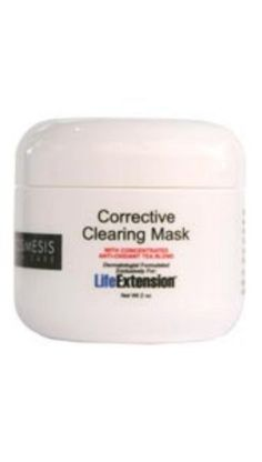Corrective Clearing Mask 2 Ounces by Life Extension. $48.38. Serving Size:. 2 Ounces Liquid. The Corrective Clearing Mask is for oily, congested skin. The product is a dynamic combination of super effective ingredients that purifies the skin, removes excess oil, exfoliates, cleanses pores and clears comedones, and helps with further breakouts.The Corrective Clearing Mask also consists of anti-inflammatory ingredients that soothes and calms, bringing the skin to a healthy ...
