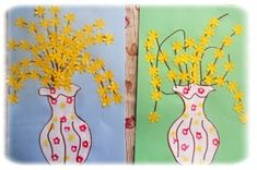 zlatý déšť Spring Crafts For Kids, Diy For Kids, Kids Crafts, Diy And Crafts, Arts And Crafts, Spring Branch, 2nd Grade Art, Easter Art, School Art Projects