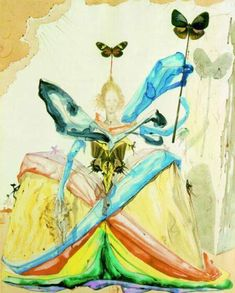 The Queen of the Butterflies (1951) by Dali. Simply Captivating.