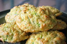 Zucchini Cheddar Biscuits , another good way to use my zucchini from the garden. Turned out great, but I added 1 tsp of salt as the recipe does not call for any.