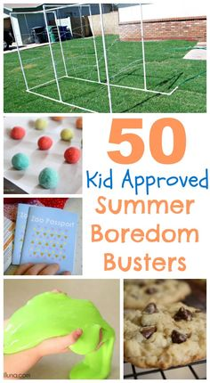 """50 summer boredom busters - Sick of hearing your kids complain? Stop hearing """"I'm bored!"""" all summer long with this awesome list! www.classyclutter.net"""