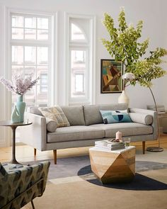 Embrace the clean lines and comfortable colors of west elm's Mid-century style furniture. New shapes, colors + finishes for 2016!