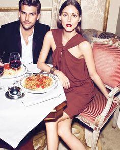 "54.8 хил. харесвания, 190 коментара – Olivia Palermo (@oliviapalermo) в Instagram: ""Friday date night 🍝🍷 #fbf  📷: @txemayeste 💇🏼♀️: @hair_hasenbein 💄: @jordifontanalsbeauty"" Olivia Palermo Style, Stylish Couple, Fashion Watches, Style Icons, Couples, Celebrities, Hair, Instagram, Style Watch"