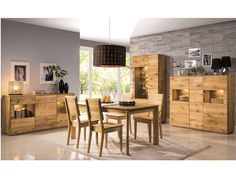 House and Garden Table extensible en chêne massif 160 / 240 cm - Dallas Wooden Furniture, Home Furniture, Dallas, Solid Wood Sideboard, Table Extensible, Drawer Shelves, Cabinet Decor, Bespoke Design, Wood Doors