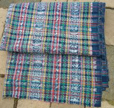 "Guatemalan Frabric Vintage 188"" x 33"" Ikat Dyed Textile Skirt_Corte for Huipil by Guatenice on Etsy"