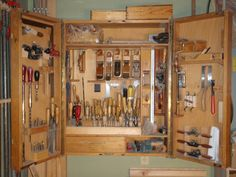 A view of some of the tools, old and new, that Dad uses in his cabinetmaking.