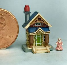 OOAK Handcrafted Miniature Gottschalk Dollhouse Tiny Wooden Artisan Doll House #handcrafted