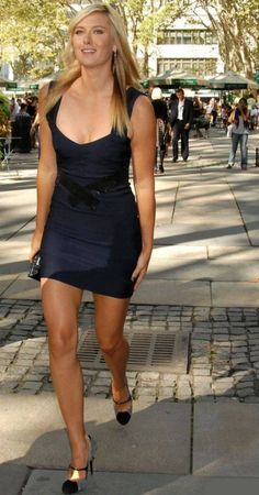 You are a very pretty woman. Tight Dresses, Sexy Dresses, Short Dresses, Tall Women, Sexy Women, Maria Sharapova Hot, Sharapova Tennis, Maria Sarapova, Tennis Players Female