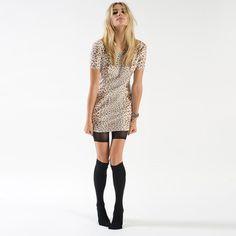 U Back Dress Leopard by Pencey