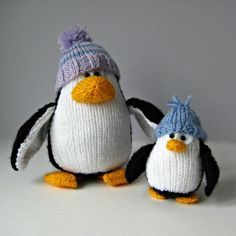 Editor's Choice: Bobble and Bubble penguin knitting pattern by Amanda Berry on LoveKnitting