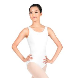 (Liberty Bell) Theatricals Adult Tank Cotton Dance Leotard, Color: White