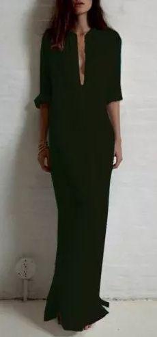 Women's fashion | Black boho maxi dress