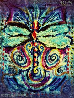 Dragonfly Painting by Renee Keith - Art, Painting, Creative, Colorful, Insect