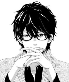 Image result for manga boy with glasses