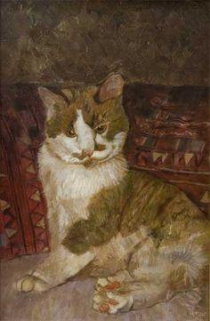 """Bollie, Jan's Cat"", Herman Tulp, b1955"