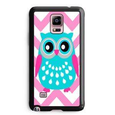 Chevron Pink Owl Samsung Galaxy Note 3 Case Aneend