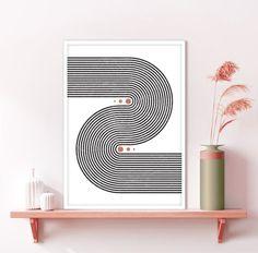 Rainbow Wall, Rainbow Print, Printing Services, Online Printing, International Paper Sizes, Neutral Colors, Geometric Shapes, Printable Art, Mid-century Modern