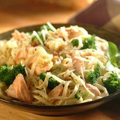 Linguine, Salmon and Broccoli Toss   Recipes   Nestlé Meals.com