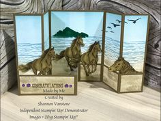 Let it Ride and High Tide by Stampin' Up! Flip Cards, Fun Fold Cards, Pop Up Cards, Folded Cards, Cool Cards, Joy Fold Card, Westerns, Horse Cards, Stampin Up Catalog