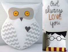 """Harry Potter's Hedwig Plush Owl (Large) -- """"Owl Always Love You"""" by SoVerySweet on Etsy  SoVerySweet.Etsy.com"""